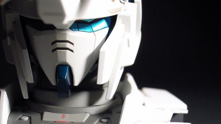 RX-0 ユニコーンガンダム ヘッドディスプレイ完成(デストロイモード)