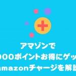 アマゾンで1000ポイントお得にゲット!amazonチャージを解説
